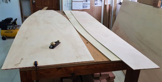 Tryst 10 Trimaran plywood pieces